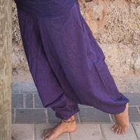 מכנסי אלאדין סגול מכותנה נפאלית