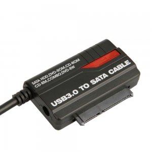 קיט לחיבור כונן SATA ל-USB 2.0 / USB 3.0 במחשב, עם ספק כוח, מתאים להארדדיסקים 2.5/3.5