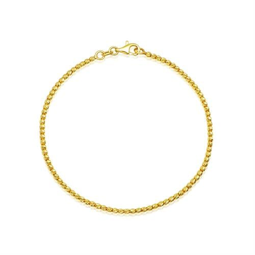 צמיד זהב כדורי לאישה או נערה דק