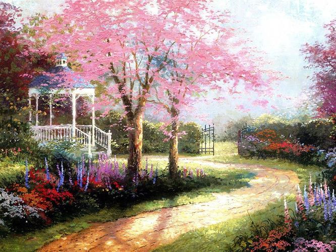 צביעה לפי מספרים - ריהוט גן בגינה