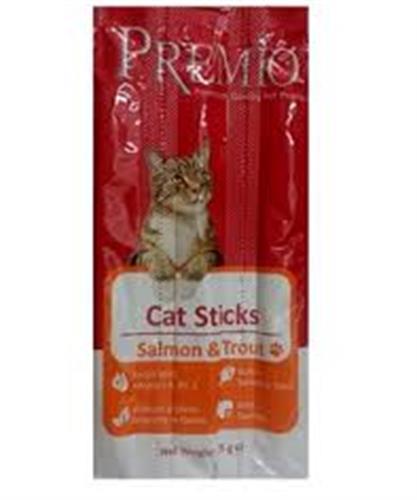 פרמיו סטיקס לחתול סלמון ופורל 15 גרם