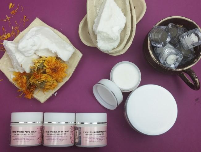 חמאת שיאה אורגנית טהורה - מיכל סבון טבעי