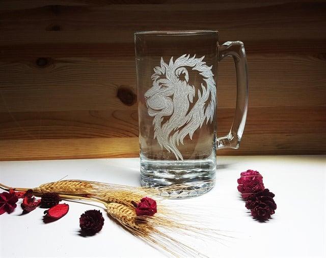 ספל בירה מזל אריה