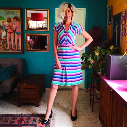 שמלת פסים מעולה לקיץ מידה S/M