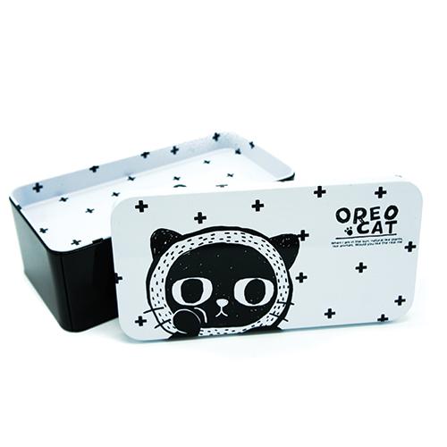 קופסת אחסון מפח - חתול פלוס