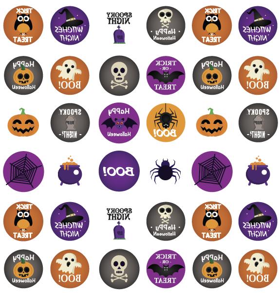 Halloween elements Transfer sheet