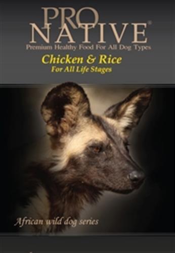 """פרו נייטיב עוף ואורז 3 ק""""ג מזון יבש לכלבים"""