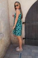שמלת גלי עלים