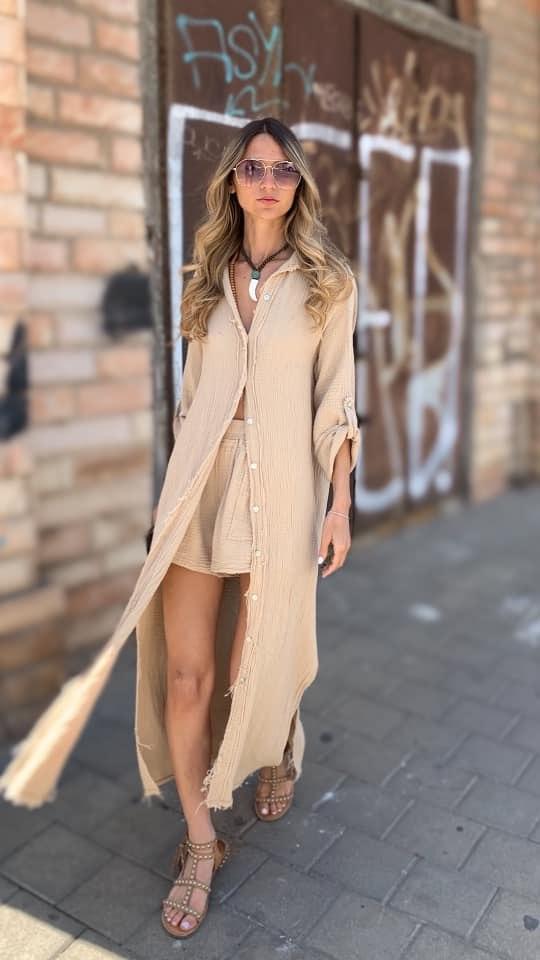 שמלת ווש כפתורים
