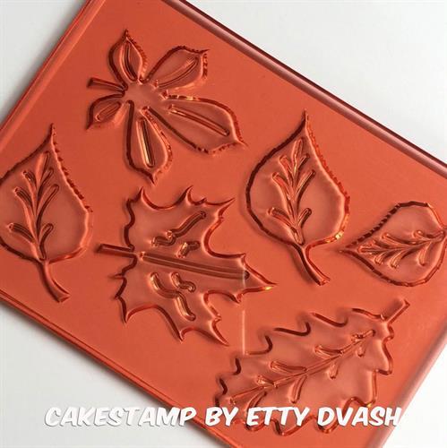 תבנית - עלים - ליצירה בשוקולד ובבצק סוכר