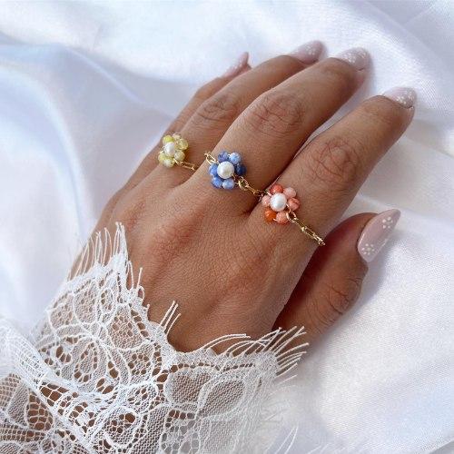 טבעת פרח לואי