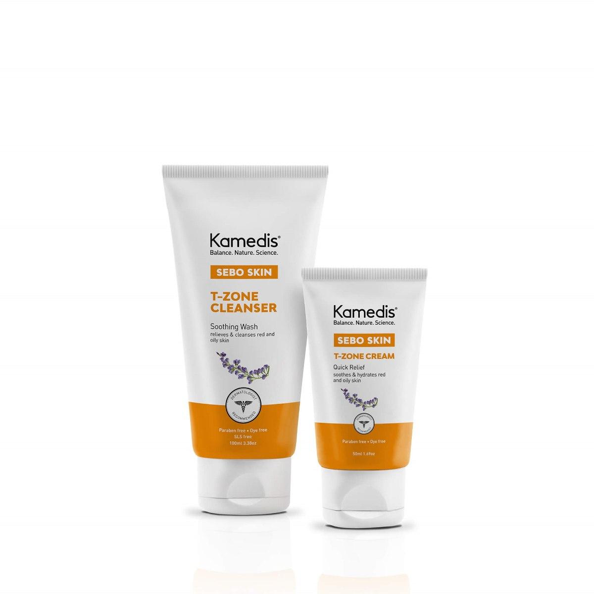 ערכה טיפולית לעור פנים אדמומי - SEBO T-ZONE KIT