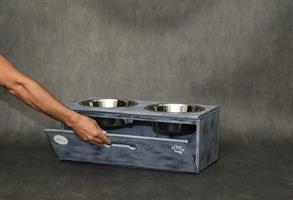 כלי אוכל ושתיה- צ'ייסר XL אפור בטון