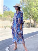 שמלת פליסה כחול