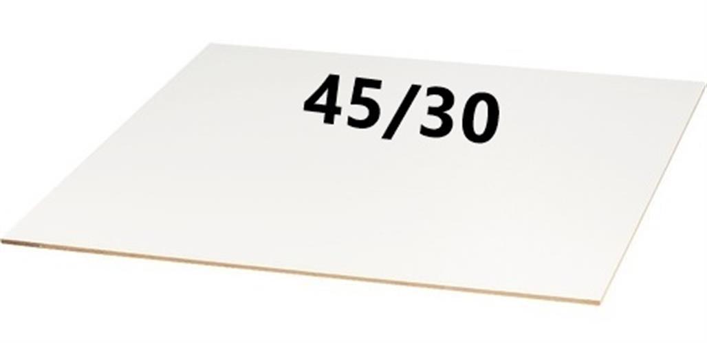מארז 10 יחידות - משטח MDF לבן במידה 45/30