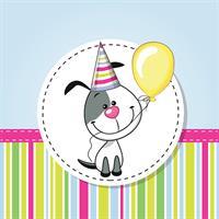 1 יח' טפט להדבקה על דלת כוורת (KALLAX)- כלב יום הולדת