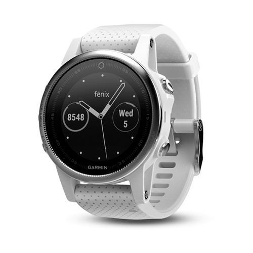 שעון דופק Garmin Fenix 5S White with Carrara White Band