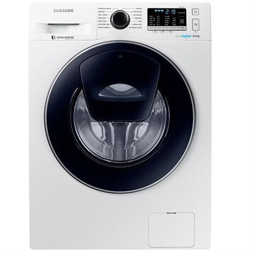"""מכונת כביסה פתח קידמי Samsung WW80K5410 8 ק""""ג סמסונג יבוא רישמי"""