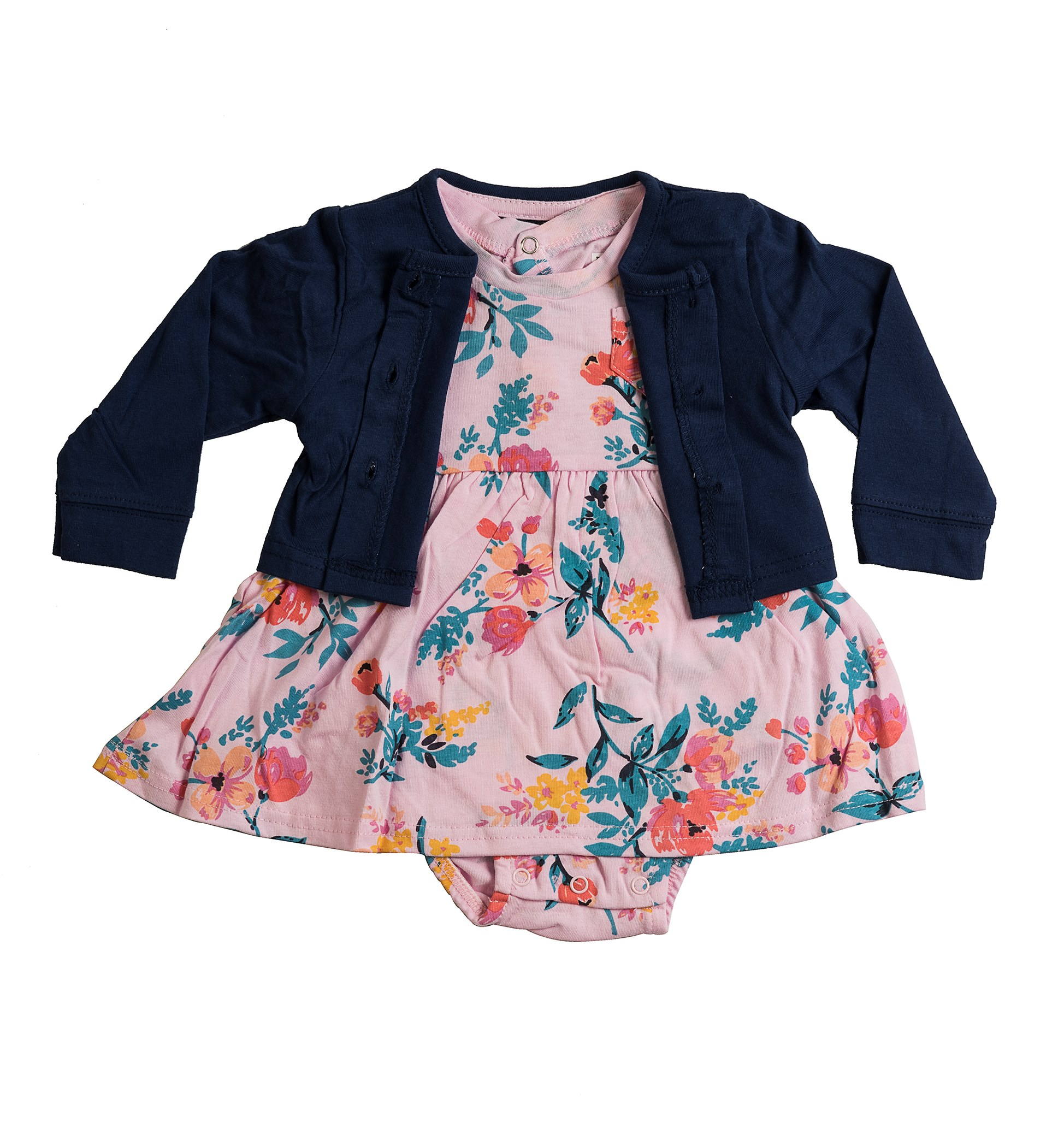 שמלת אוברול ועליונית 4611  ורוד בייבי - נייבי
