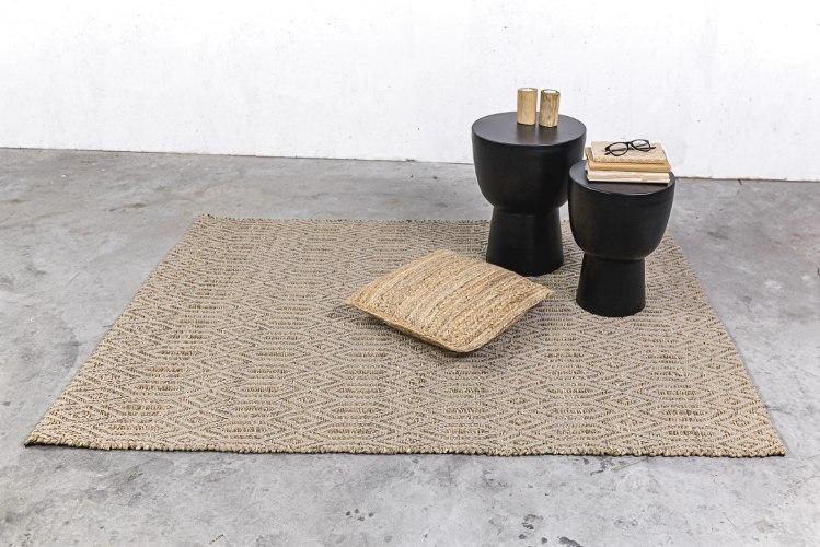 שטיח עשב ים  - בתוספת דוגמה בצבע אבן