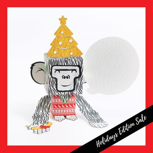 6 units Bundle - Christmas Monkey