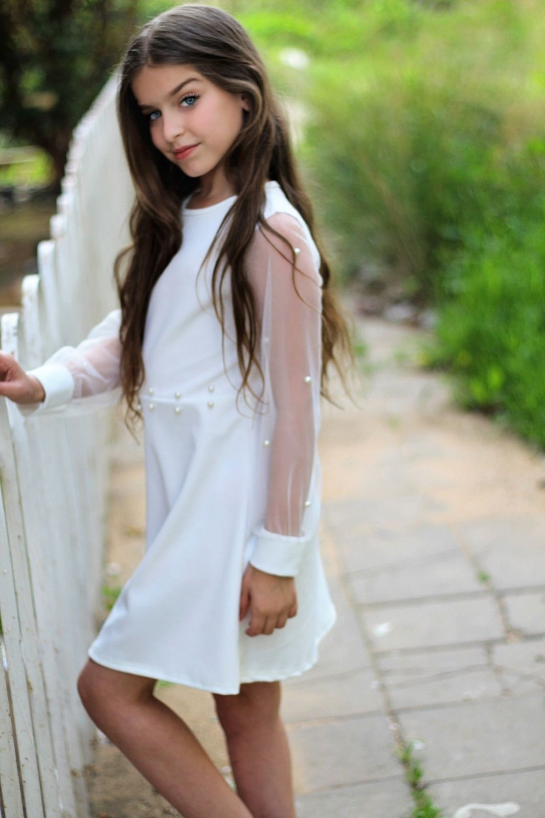 שמלת שיפון פנינים