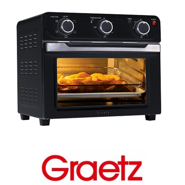 Graetz טוסטר אובן וטיגון ללא שמן דגם OT2266 שחור