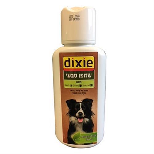 שמפו טבעי מונע טפילים לכלב וחתול dixie