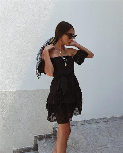 שמלת לילי קומות - שחורה