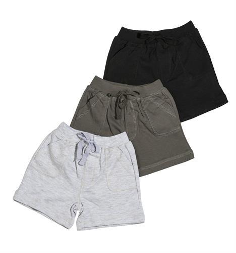 שלישיית מכנסיים 4457 שחור- אפור - אפור מלאנג'