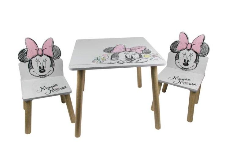 שולחן +כיסאות עץ מיני מאוס