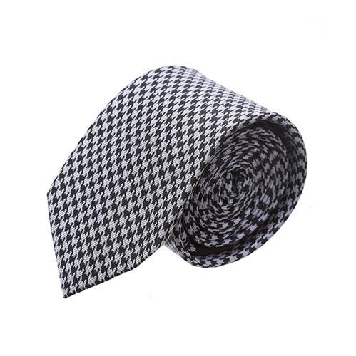 עניבה פפיתה שחור אפור בהיר