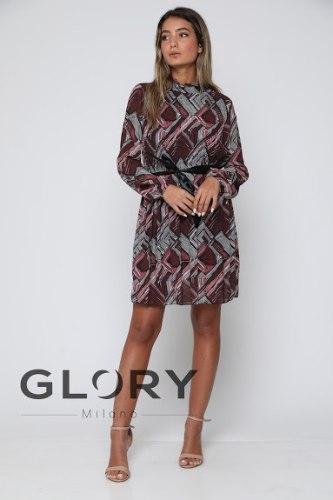 שמלת פליסה כיווצים1 GLORY