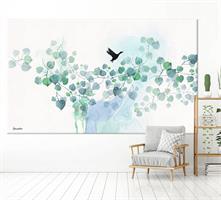 ציור צבעי מים טורקיז