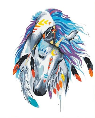 צביעה לי מספרים - סוס הודי