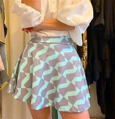 חצאית קלוש  סיס - תכלת/אפרפר
