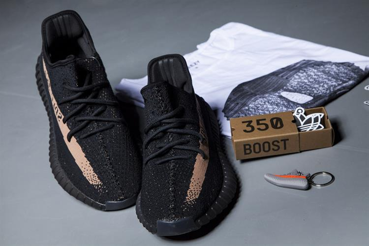 נעלי ספורט Adidas Yeezy Boost 350V2 Real Boost Core Black Copper Met 042 מידות  36-48