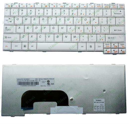 מקלדת למחשב נייד לנובו Lenovo IdeaPad S12 keyboard White 25-008421 , 25-008680