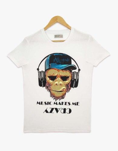 חולצת טריקו בנים מודפס MUSIC MAKE ME