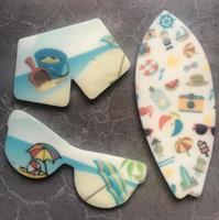 Summer plastic Stencils Mat for Chocolate