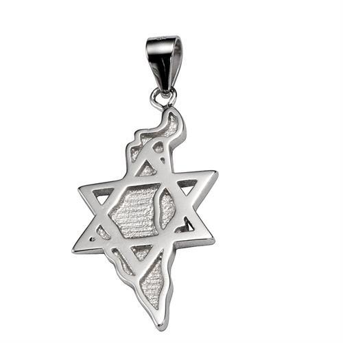 תליון ארץ ישראל בשילוב מגן דוד