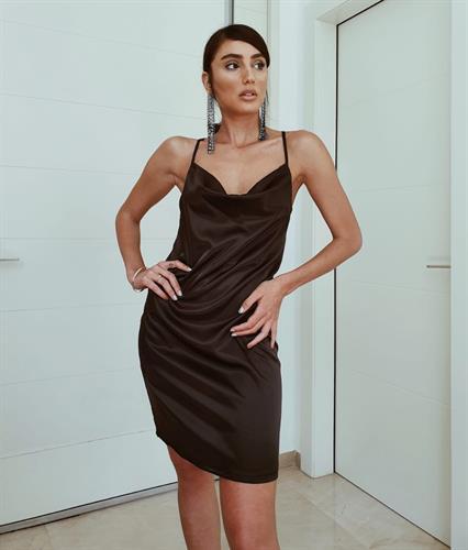 שמלת מיני דונה ליידי - שחורה