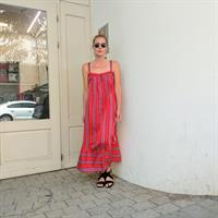 שמלת BILLY - אדום פסים