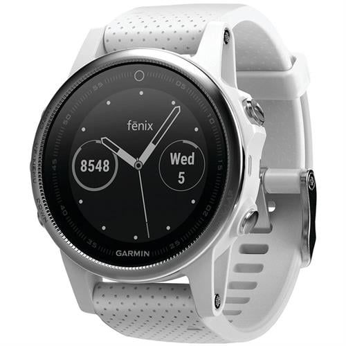 Garmin Fenix 5S Silver with Carrara white band