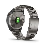 Garmin fenix 6X Pro Solar Edition titanium with vented titanium bracelet