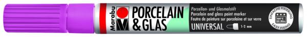 טוש לפורצלן וזכוכית 1-2 ממ - פטל 005 MARABU UNIVERSAL