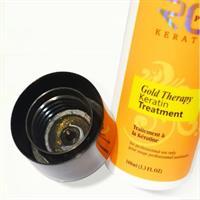 ערכת החלקת קרטין גולד ביתית לשיקום ולהחלקת השיער