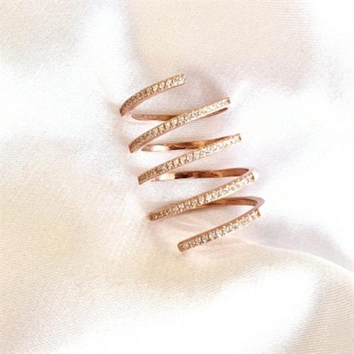 טבעת ספירלה זהב אדום