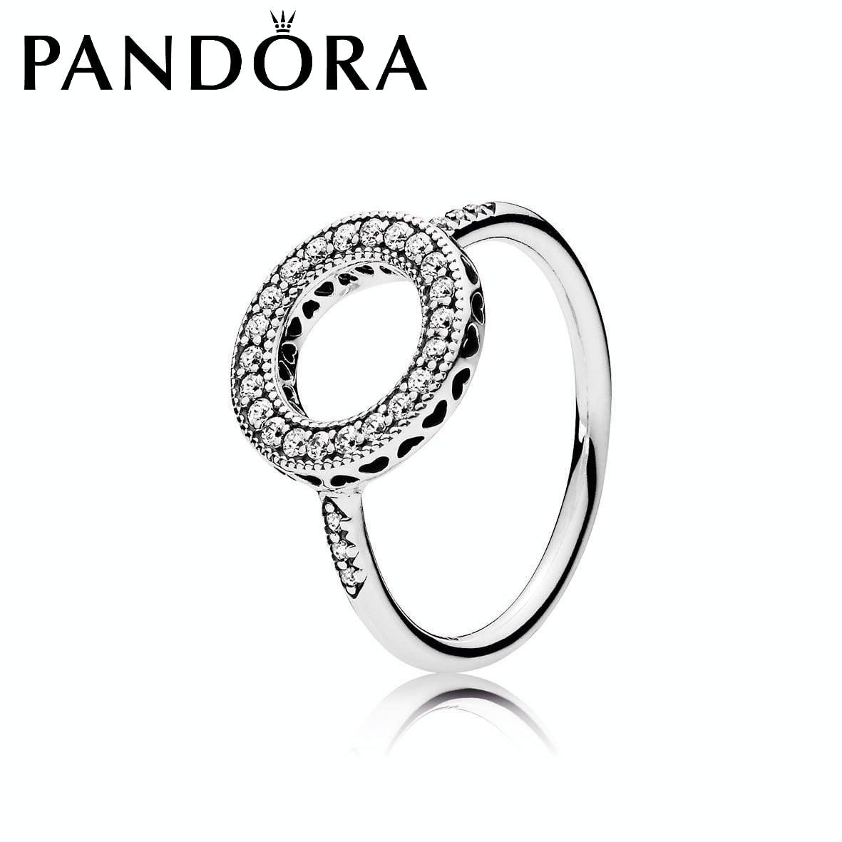 טבעת כסף הילת לבבות PANDORA