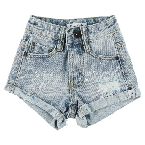 שורט ג׳ינס עם כפל MISS KIDS - מידות 2-18